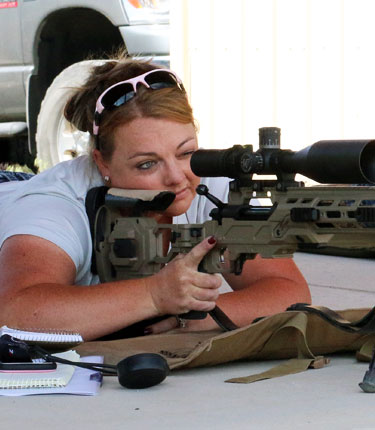 Womens introduction to precision shooting